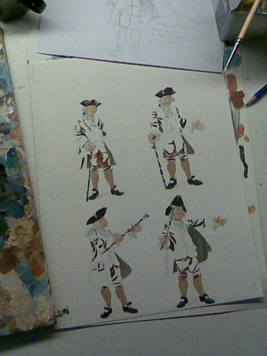 BD Vivaldi Planche dessins