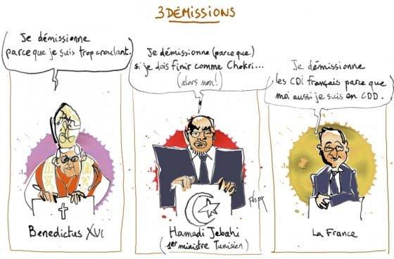 3 DEMISSIONS