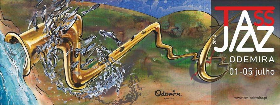affiche outdoor pour le festival de Jazz de Odemira 2014
