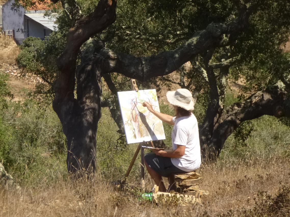 Peintre en Automne